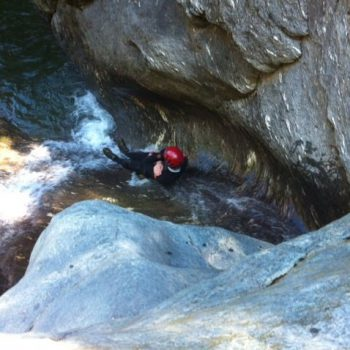 La Bonauda- discesa di un torrente